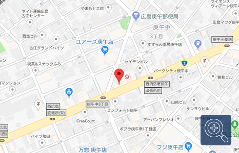 ダイハツ共盛庚午店の地図