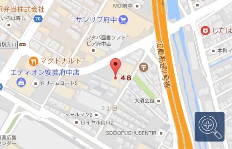 マツダオートザム安芸府中の地図