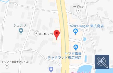 「車検の速太郎」 東広島店の地図